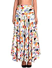 oneOeightdesigns Women's Multicolor Triangle Printed 5 meter multi Flared Palazzo (M,L,XL,XXL)