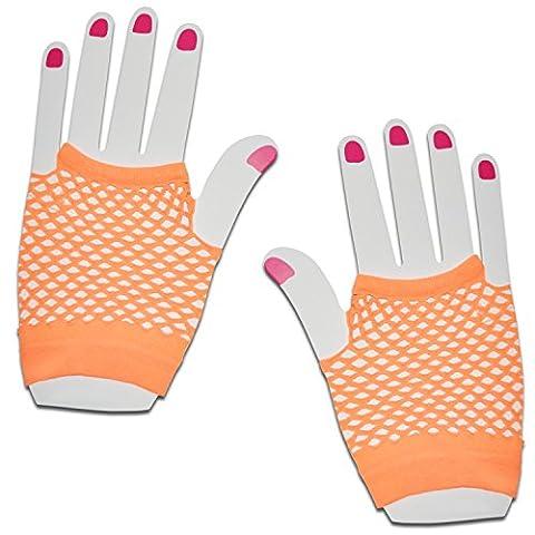 Courte en résille à la main gants Party Fancy robe tutu (Orange)