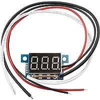 COM-FOUR® Amperímetro de medidor de corriente, 10 A, con pantalla LED digital