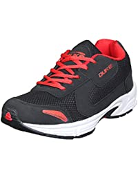 Duke Mens Black/Black/Red Sports Shoes