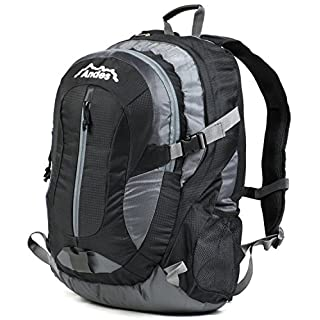 Andes 35 Litre Black Rucksack/Backpack for Camping/Hiking/Travel/School Bag