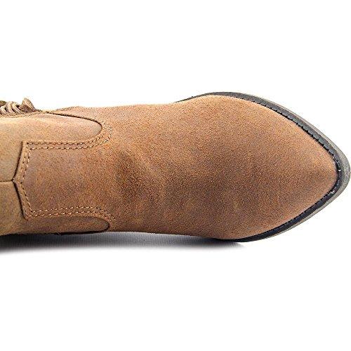Carlos by Carlos Santana Lever Spitz Leder Mode-Knie hoch Stiefel Cognac