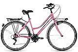 F.lli Schiano CTB Trekking Nisida Bicicleta, Mujer, Rosa, 28'