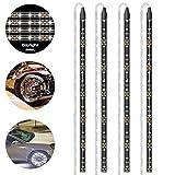 PryEU - Tira de luces LED (12 V, rojo, verde, azul, blanco, 30 cm, 18 x 3528 SMD, impermeable, para coches, camiones, barcos, motocicletas, interiores, iluminación exterior, 4 unidades)