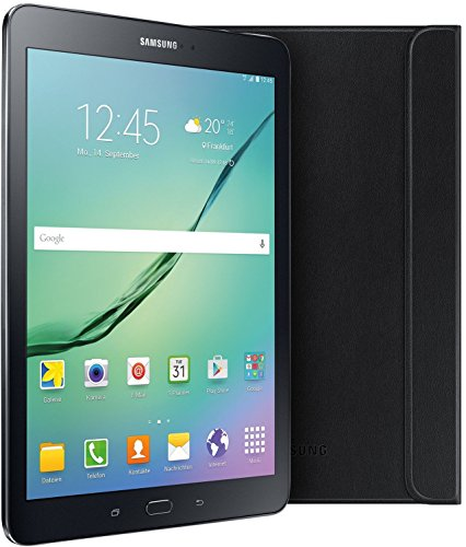 Samsung Galaxy Tab S2 T813 24,6 cm (9,7 Zoll) Tablet-PC (2 Quad-Core Prozessoren, 1,8 GHz + 1,4GHz, 3GB RAM, 32GB eMMC, Wifi, Android 6.0) schwarz inkl. Samsung Book Cover - Limited Edition
