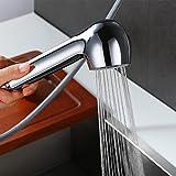 Desfau Chrom Wasserhahn Waschbecken Bad Waschtischarmatur Armatur Badarmatur Mischbatterie Einhebelmischer Waschbeckenarmatur Einhandmischer Waschtischbatterie (Brausekopf)
