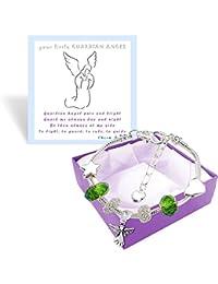 Las niñas ángel brillante encanto pulsera caja de regalo con tarjeta de felicitación y primera Comunión