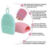 RUIMIO Pinsel Reinigung Aufhänger Pinselreiniger Silikon Pink/Mintgrün