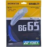 Yonex Badminton Strings BG 65, 0.70mm (Royal Blue)