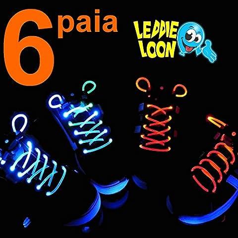 DI CROSS TRADE LEDDIE LOON 6 PAIA (12 PEZZI) DI LACCI LUMINOSI PER FESTE PARTY COSPLAY SUPER OFFERTA