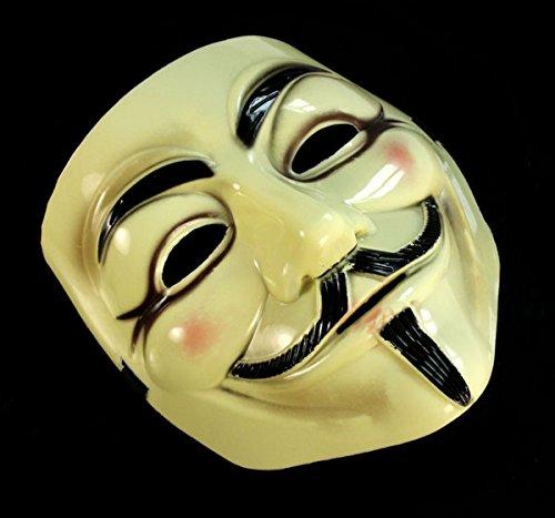 jieGREAT Räumungsverkauf Halloween-Maskerade-Gesichtsmaske V für Vendetta Fawkes Kostümparty