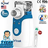 #8: Dr Trust Portable Ultrasonic Mesh Nebulizer Machine Cool Mist Inhaler for Children and Adults (White)