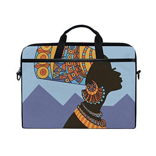 jstel Ägyptische Frau Laptop Schulter Messenger Tasche Fall Sleeve für 35,6cm zu 39,6cm mit verstellbarer Notebook Schultergurt (Ägyptische Tasche)