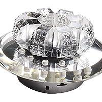 crystal led incasso, 1 luce, moderno e minimalista bronzo