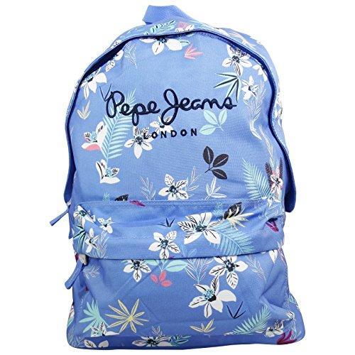 Pepe Jeans Mireia 42cm Zaino Freetime Donna Ragazza per Scuola e Tempo Libero Azzurro