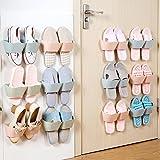 E-Meoly Aufbewahrungslösung für Schuhe, Kunststoff-Halterungen zur Montage an Wänden und Türen, 4Stück-Packung grün