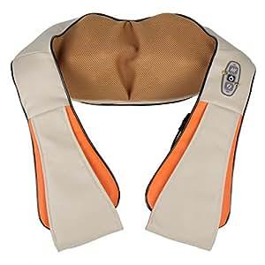 MemoryStar MG500 Nackenmassagegerät mit Shiatsu-Technik Schultermassagegerät Wärme Wärmefunktion Shiatsu - DEUTSCHE MARKE - Nackenmassage Kissen Neck Massage Shoulder Gerät Massage Gurt Infrarot mit Auto / KFZ Adapter