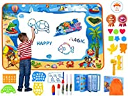 Water Magic Doodle Mat Full Upgrade Set With Extra Large Drawing Area Water Writing Painting Coloring Mat birt