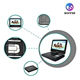 from WONNIE WONNIE 10.5 Portable DVD Player with 270 Swivel Screen Built-in Rechargeable Battery SD Card and USB, Direct Play in Formats AVI/MP3/JPEG/RMVB (10.5, Black) Model WN-UK1038BK
