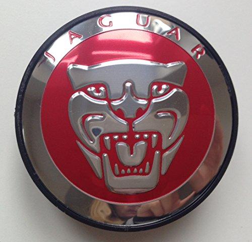 Preisvergleich Produktbild Jaguar Zentrum Caps Hub Cover Abdeckung Abzeichen Emblem 4St. x 59mm , Rot