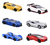 Majorette 212054050Gran Turismo Vison Assortment, miniatura Vehículo, 6modelos diferentes, que incluye Cartas coleccionables de Cast, 7,5cm