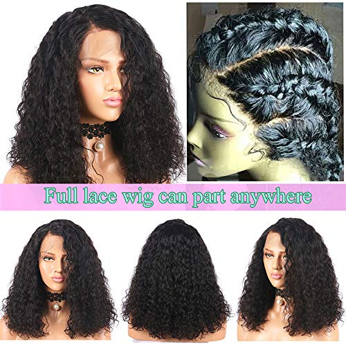 Human Hair Lace Wigs 13x4 Brazilian Kinky Curly Frontal Lace Wig 150% Density Remy Hair Pre-plucked 8-24 Natural Black Free Shipping Strong Resistance To Heat And Hard Wearing