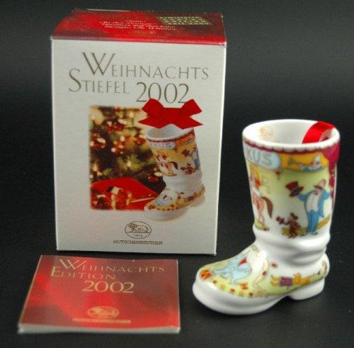 Hutschenreuther Weihnachtsstiefel 2002, Baumanhänger, Anhänger, Baumschmuck, Weihnachten, Porzellanstiefel, Stiefel