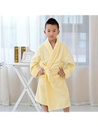 084eb38ad7 Towelling Bath Robe Children Kid Boy Girl Cotton Lapel Absorbent Bathrobe  Bath Towel Wrap Nightwear (