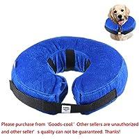 Collar Inflable de Perros Gato, KOBWA Collar de Mascota para Perros Medianos para Prevenir Rasgu?ar y Heridas, M