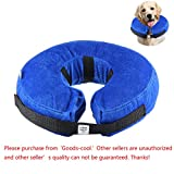 KOBWA Comfortable Inflatable Pet Protection Cover High Quality Washable Protective Collar for Border Collie, Spaniel, Etc. (Medium)