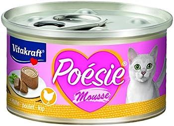 Vitakraft Nourriture pour chat Nourriture humide Poésie Mousse Boîte - Lot de 12