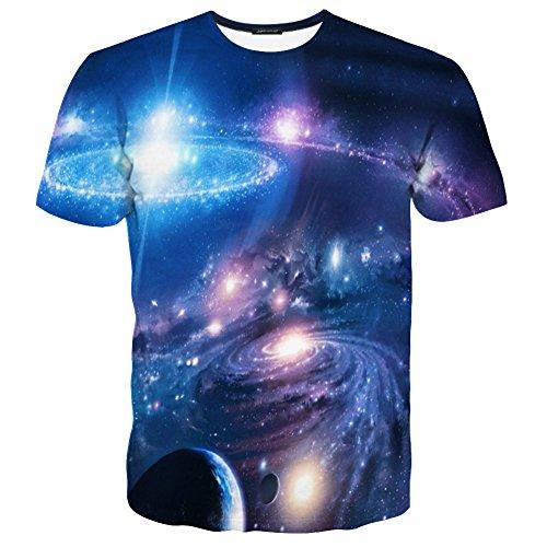 LAIDIPAS Unisex 3D Muster Gedruckte Beiläufige Kurze Hülsen-T-Shirts T-Stücke Style 19