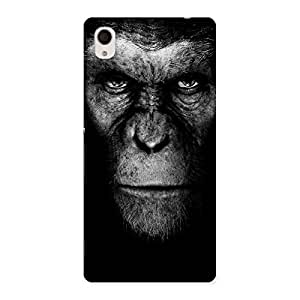 Stylish Chimp King Black Back Case Cover for Xperia M4 Aqua