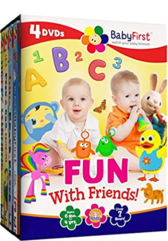 BabyFirst: Fun with Friends Bundle (Best of BabyFirst Volume 3, Tillie Knock Knock, Peek-A-Boo I See You, Hoppy Learning with Harry the