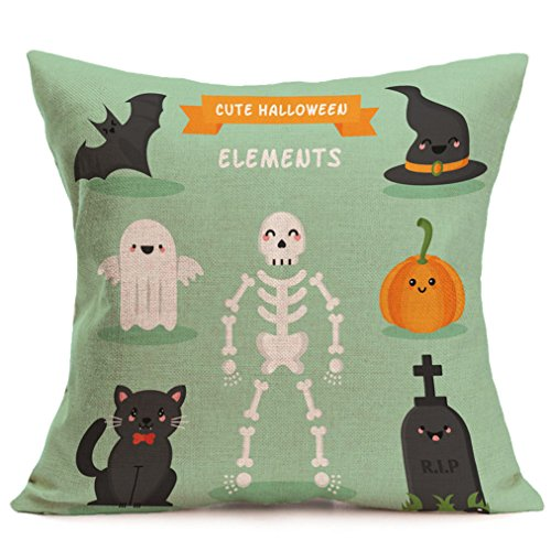 Vovotrade Happy Halloween Leinen Sofa Kissenbezug Home Decor (D)