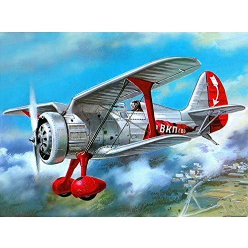 BulundFan Retro Flugzeug Diamant Stickerei DIY Diamant malerei mosaik Diamant malerei 3D kreuzstich Bilder, 60x80 cm (Flugzeug Paint Kit)