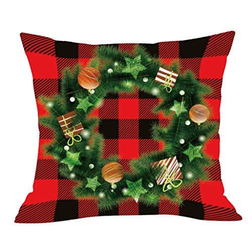 Myspace 2019 Dekoration für Christmas Weihnachtsserie Gedruckter Kissenbezug aus Polyester Weicher Dekokissenbezug Kissenbezug