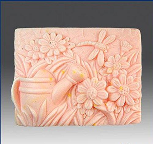 LC Kettle Flower Dragonfly N094 Mould Craft Art Silicone Soap Mold Craft Molds DIY Handmade Candle Molds