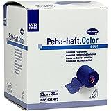 Peha-haft Color - Rollo de venda elástica (sin látex, 20 m x 8cm), color azul