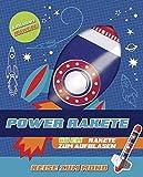 Power Raket - Reise zum Mond - Buch & Rakete
