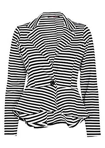 zara-fashion-womens-stripe-print-peplum-long-sleeves-button-blazer-top-12-black-white