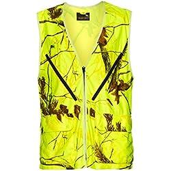 De Caza De Montería Señal Chaleco de neón amarillo chaleco reflectante drück Caza Amarillo Realtree, amarillo, xx-large