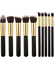 Foolzy® Set of 10 Professional Makeup Brushes Kit (BR-15F)