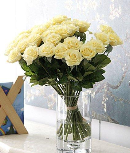 Naisidier Rose Blumen künstliche Seidenrosen 12 Stück, perfekt Blumenstrauß für Hochzeit Gunst Boxen, Party, Haus & Garten Dekor, Kunsthandwerk, DIY Seide Rose (Haus Und Garten Dekor)