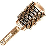Best Blow Dry Round Hair Brush with Natural Boar Bristles for Volume Blowouts - Get Salon-Like Healthy Shiny Frizz-Free Hair with this Styling Roller Brush Large (2 inch)