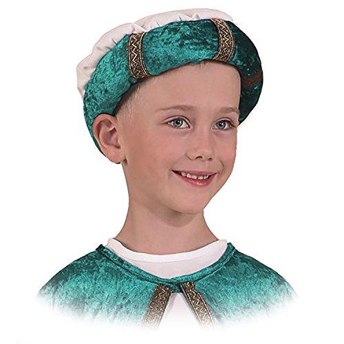 Unbekannt Kinder Turban Heilige DREI Könige Weihnachten Kostüm Karneval Turban, f. Kinder (grün)