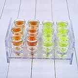 baoju Home Europäisches Weinregal Weinregal Acryl Transparent Zwei-Schicht-Tischplatte Umweltfreundlich und langlebig Fühlen Sie Sich angenehm in der Hand