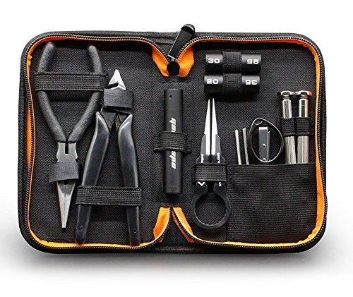 geekvape Mini DIY Kit V2Tool Set mit Multifunktionale Keramik Coil Pinzette/Kreuz-Schraubendreher/gerade Schraubendreher/Zangen/Drahtschneider/Spule Jig Drahtwickelwerkzeug Werkzeug, ideal für Zerstäuber DIY