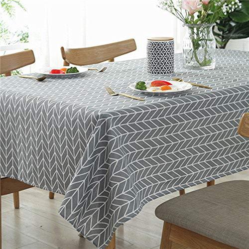 WXQQ Elegante und hochwertige Tischdecken in verschiedenen Farben und Größen Linen fabric Grey 140x250cm -
