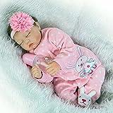 Yesteria Echt Aussehende Schlafende Reborn Baby Doll Mädchen Silikon Rosa Outfit 55 cm